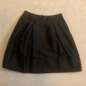 6267 Designer Black Silk Faille Skirt